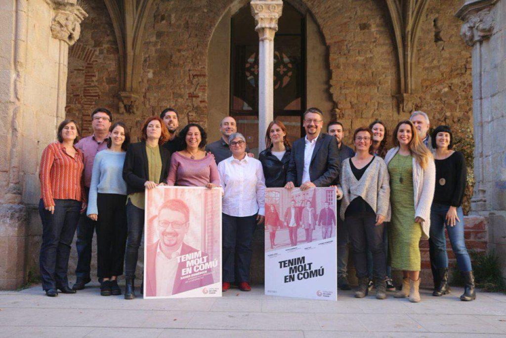 Foto candidatura Catalunya en comú con el coportavoz de EQUO catalunya Toni Ribas